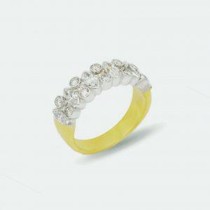 18 Karaat wit/geel goud / Diamanten 1,79 ct