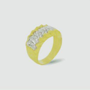 18 Karaat wit/geel goud / Diamanten 1,26ct