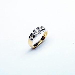 18 Karaat wit/geel goud  /  Diamanten 0.64ct