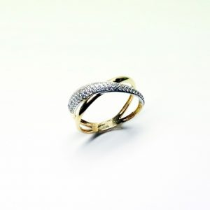18 Karaat wit/geel goud  /  Zirkonium