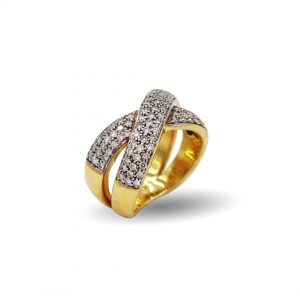 18 Karaat goud /  Diamanten 1,41ct