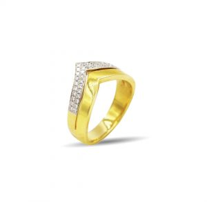 18 Karaat goud / Diamanten 0,18ct