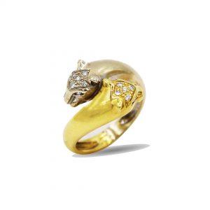 18 Karaat wit/geel goud  /  Diamanten  0,30ct