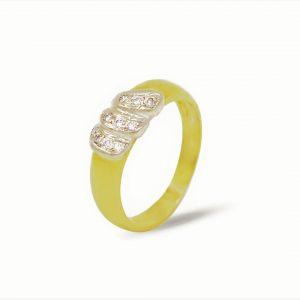 18 Karaat wit/geel goud / Diamanten 0,31ct