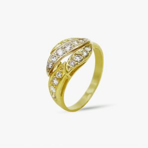 18 Karaat goud / Diamanten 0,31ct
