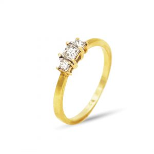 18 Karaat goud / Diamanten 0,28ct