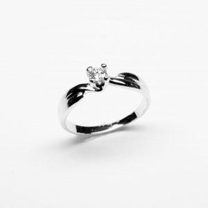 18 Karaat wit goud  /  Diamant 0.36ct
