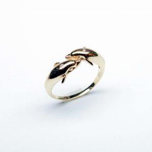 18 Karaat geel goud / Diamanten 0.04ct